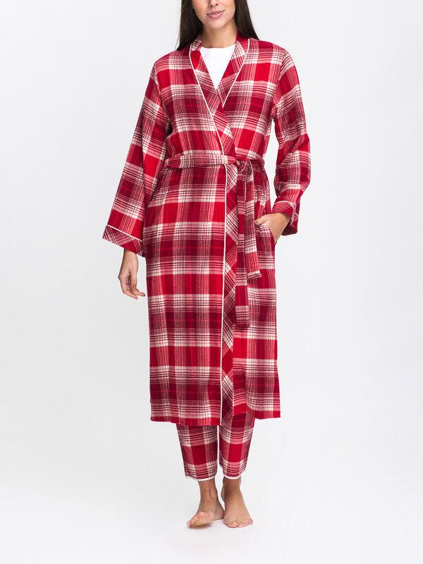 Megan Check Long Dressing Gown