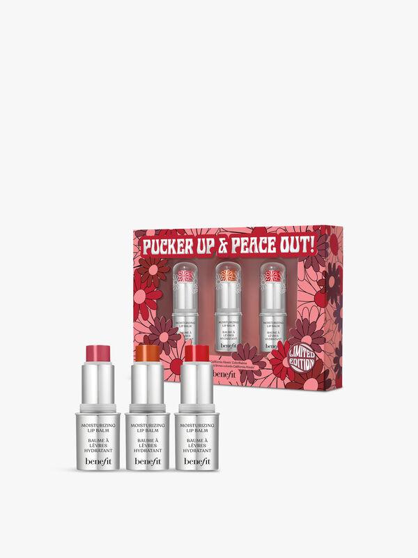 Pucker Up & Peace Out  Lip Balm Mini Set