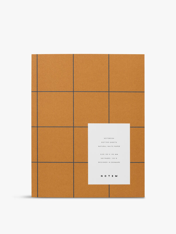 Uma Rust Grid Medium Notebook Dot Pages