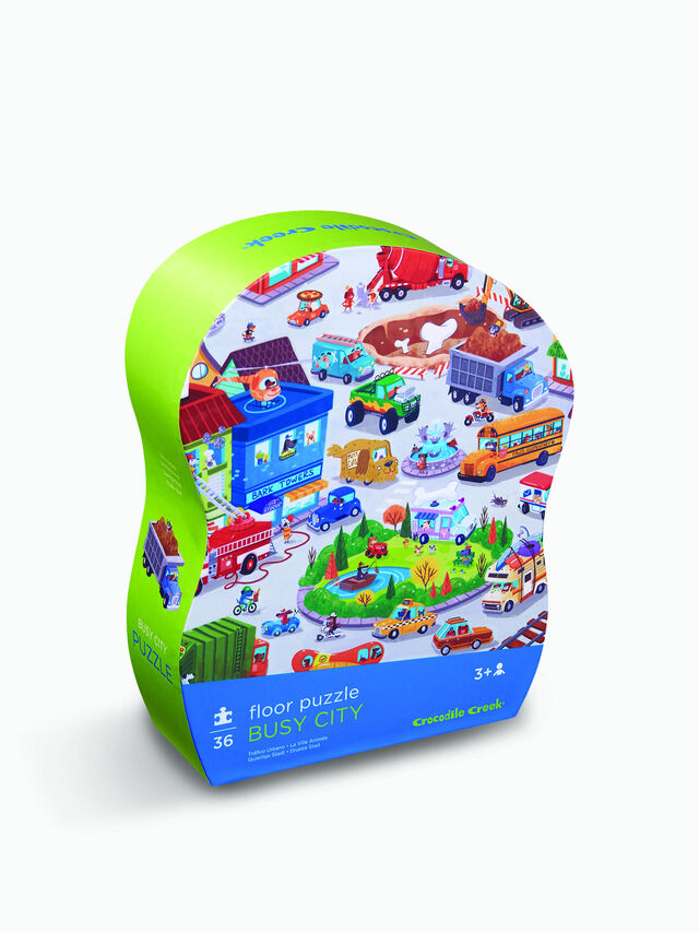 Shaped Puzzle Busy City