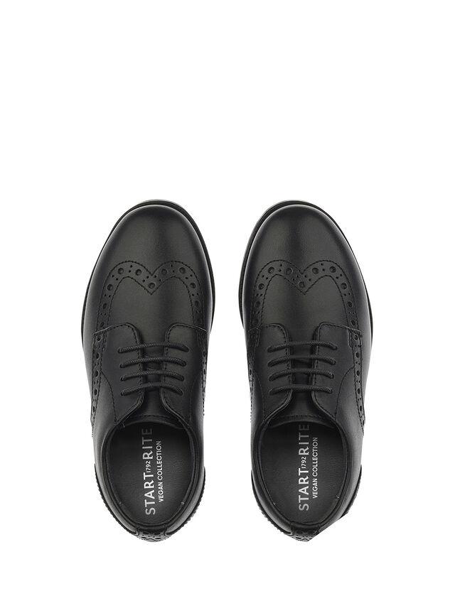 Brogue Pri Vegan Black School Shoes