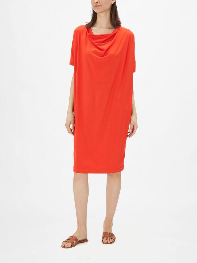 Neolla Cowl Neck Jersey Shift Dress
