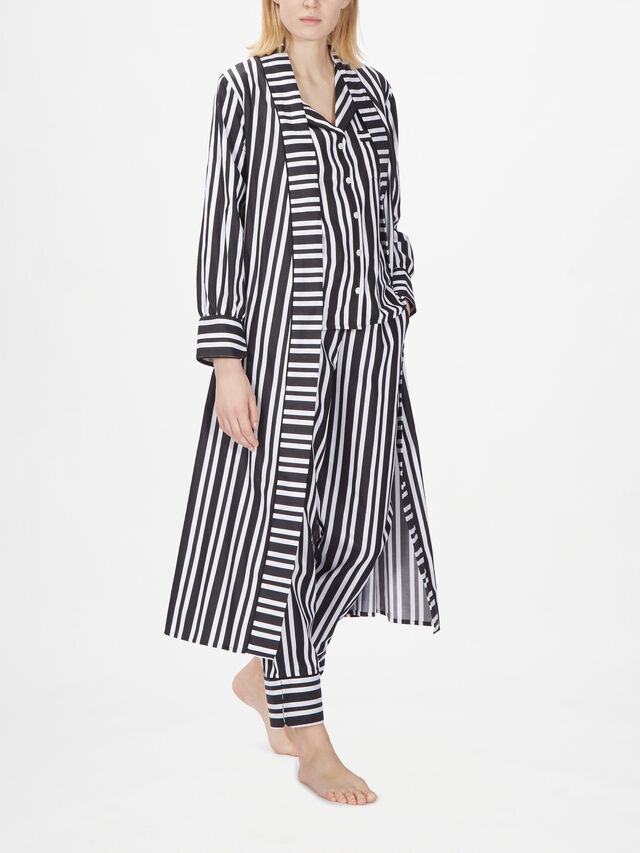 Kensington Long Sleeve Stripe Gown