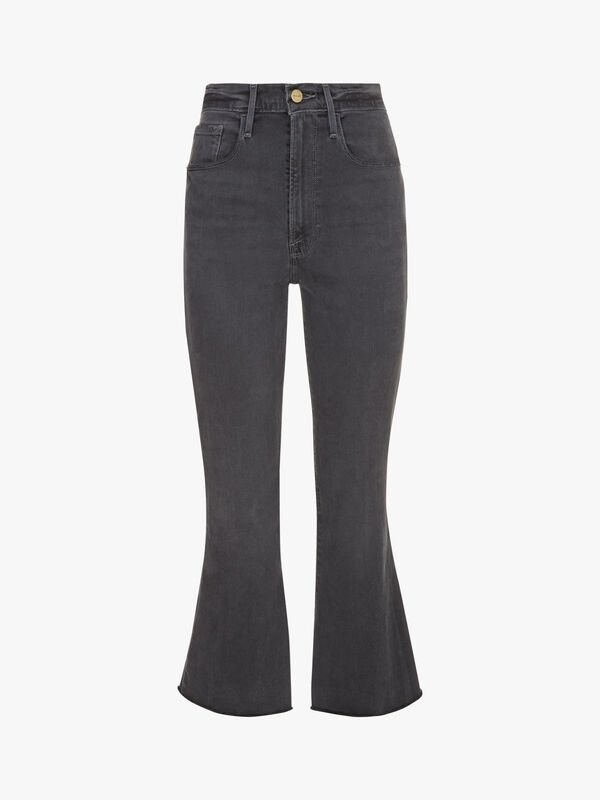 Le Crop Flare Raw Edge Jeans
