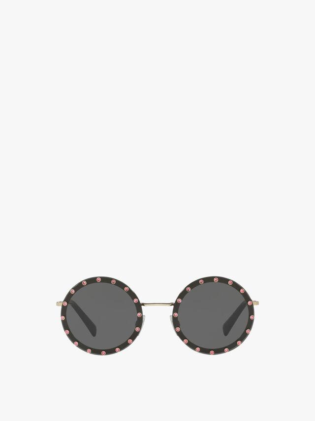 Pearl Stud Round Sunglasses