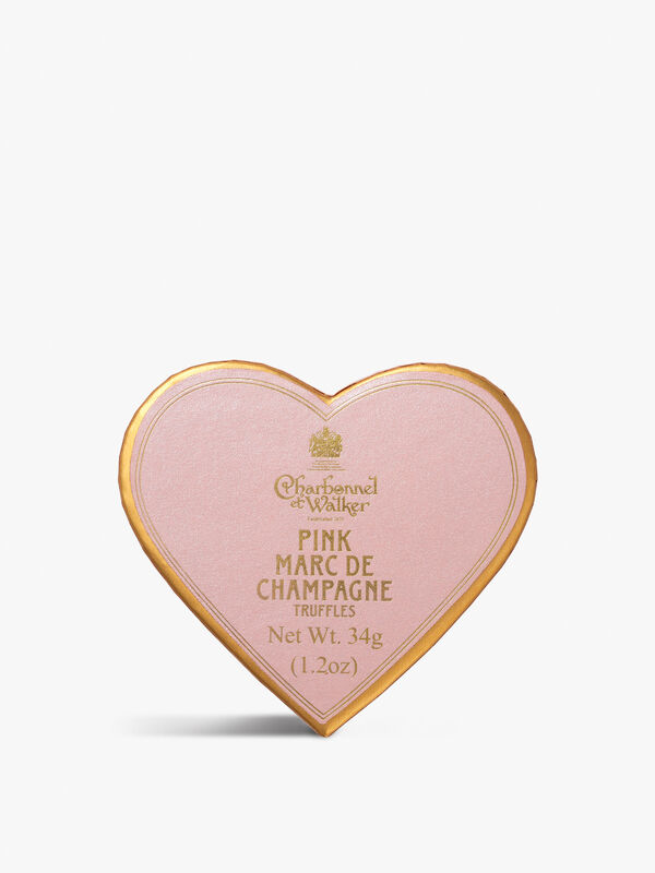 Mini Pink Marc De Champagne Heart Box