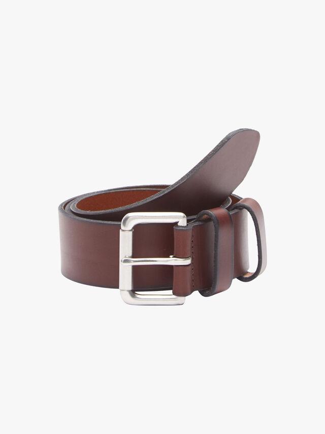 Leather Roller Buckle Belt