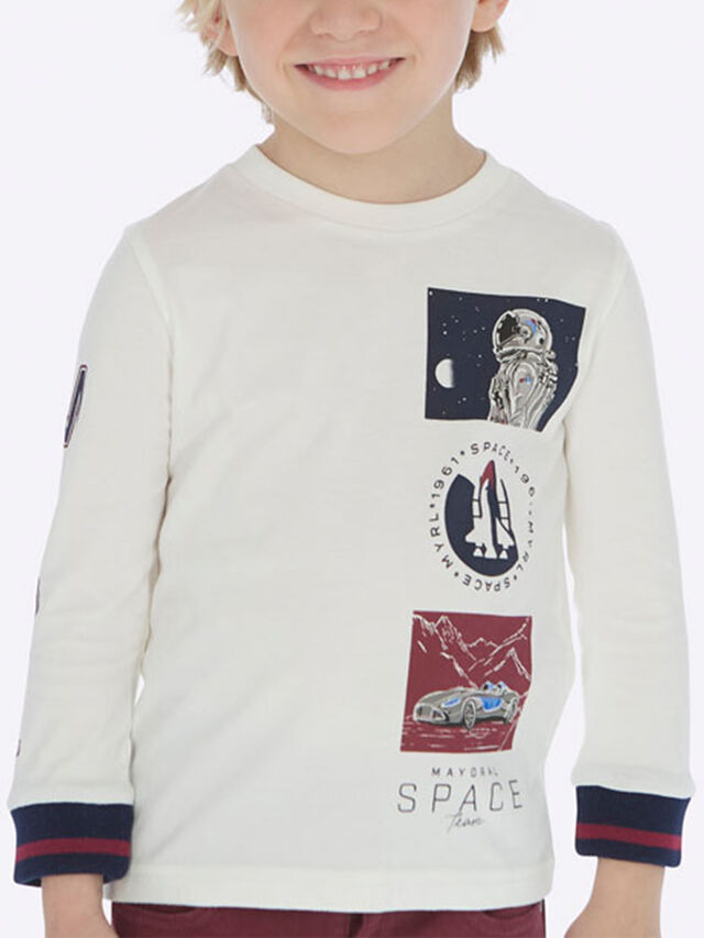 Long Sleeve Space Boxed Top