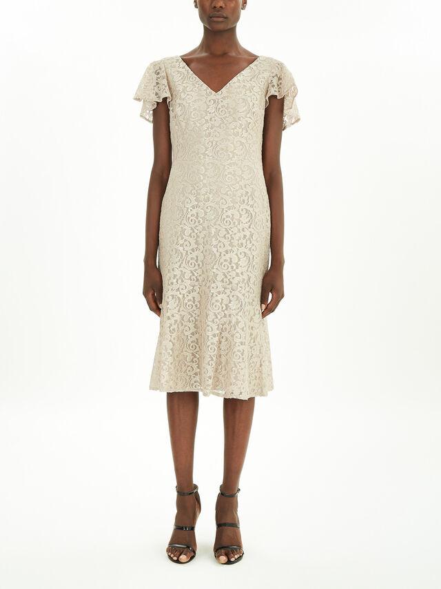 Catiara Short Sleeve Evening Dress