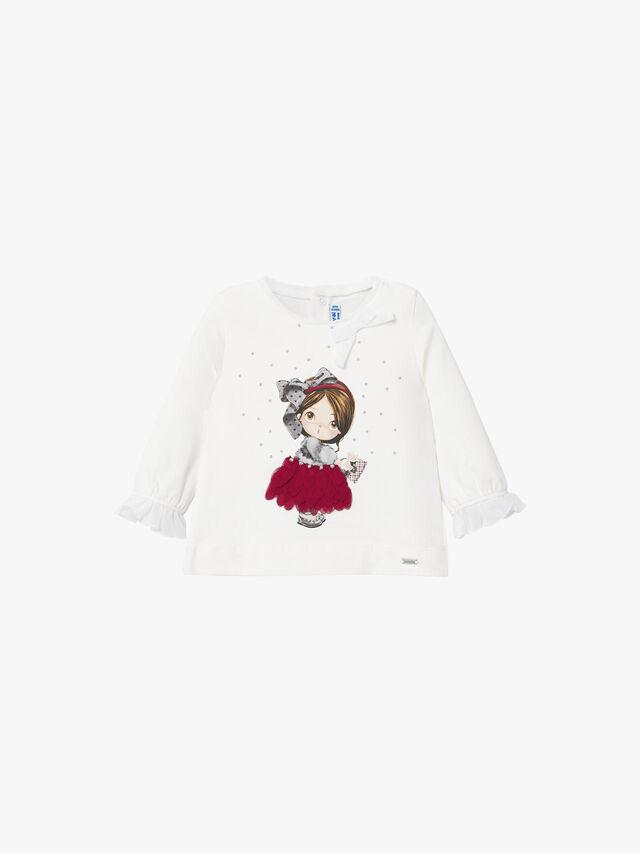 Girl Print Long Sleeve Top