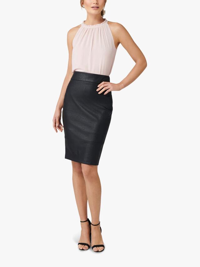 Alex PU Pencil Skirt