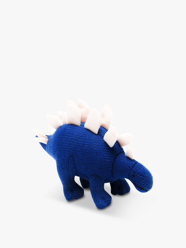 Knitted Stegosaurus Mini Rattle