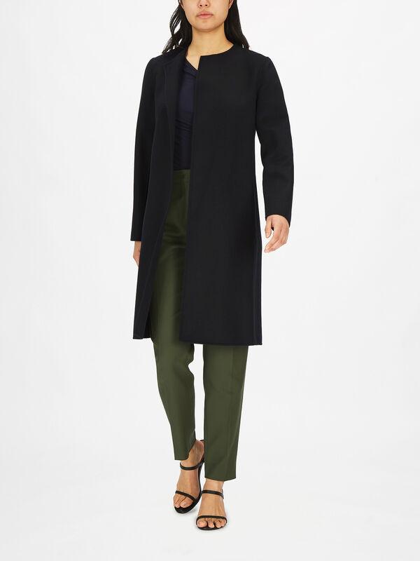 Mastro Collarless Coat