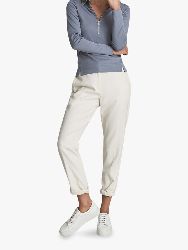 Fernanda Zip Neck Polo Shirt