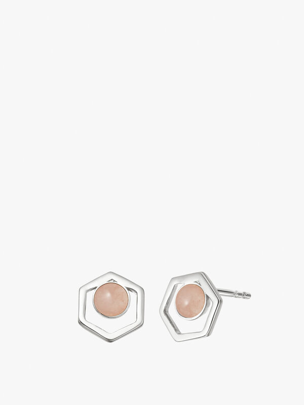 Rose Quartz Healing Cut Out Studs