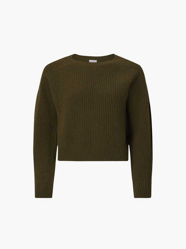Ribbed Cropped Crewneck