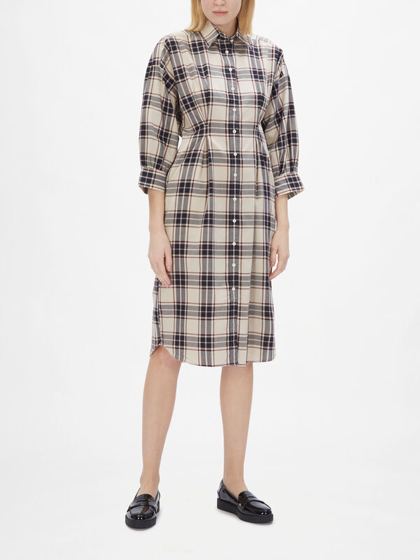 Oxford Plaid Oversized Shirt Dress