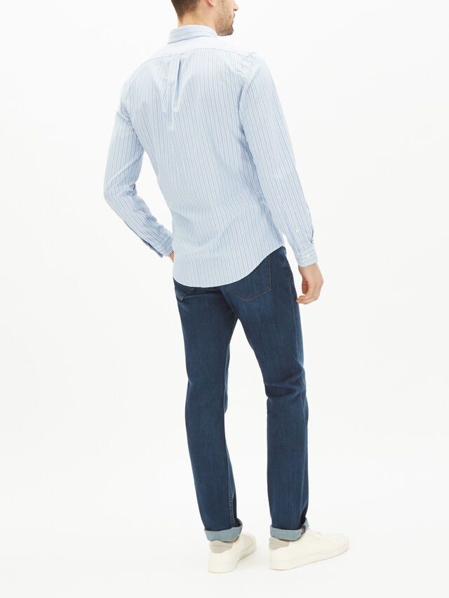 Slim Fit Stripe Oxford Shirt