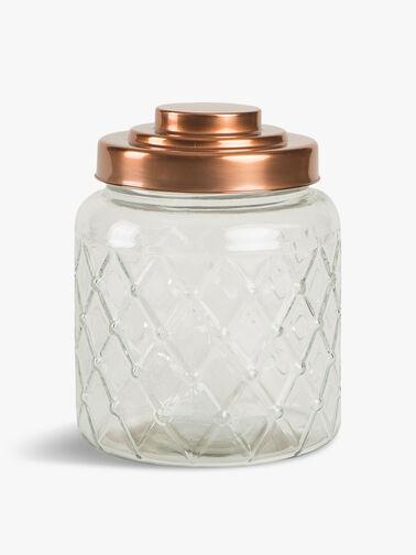Fat Lattice Glass Jar