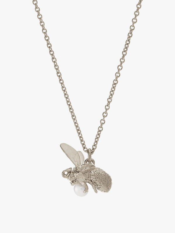 Flying Bee with Pearl Necklace
