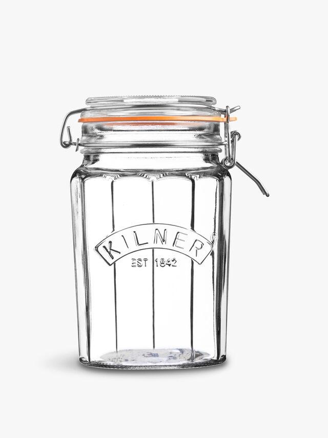 Facetted Clip Top Jar 0.95l