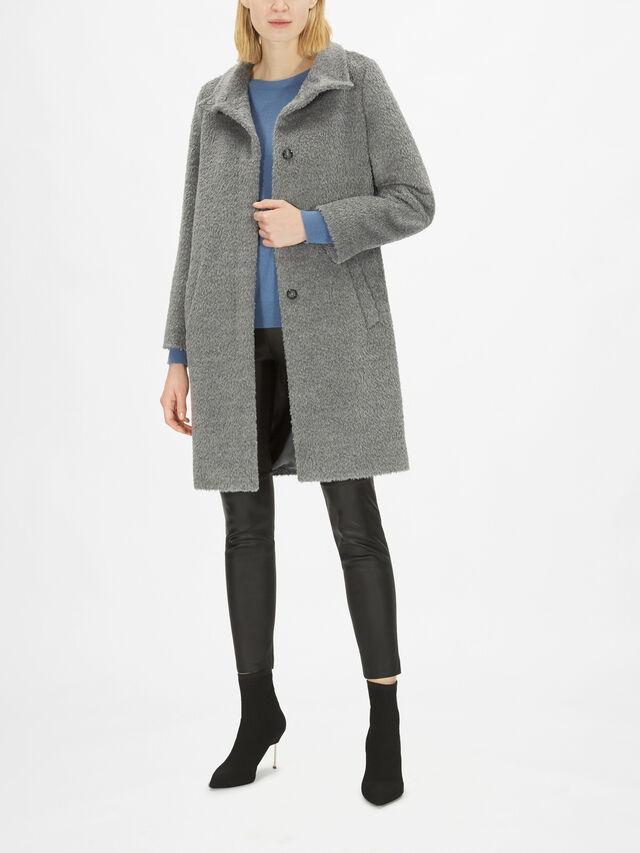 Lira Funnel Neck Alpaca Blend Coat