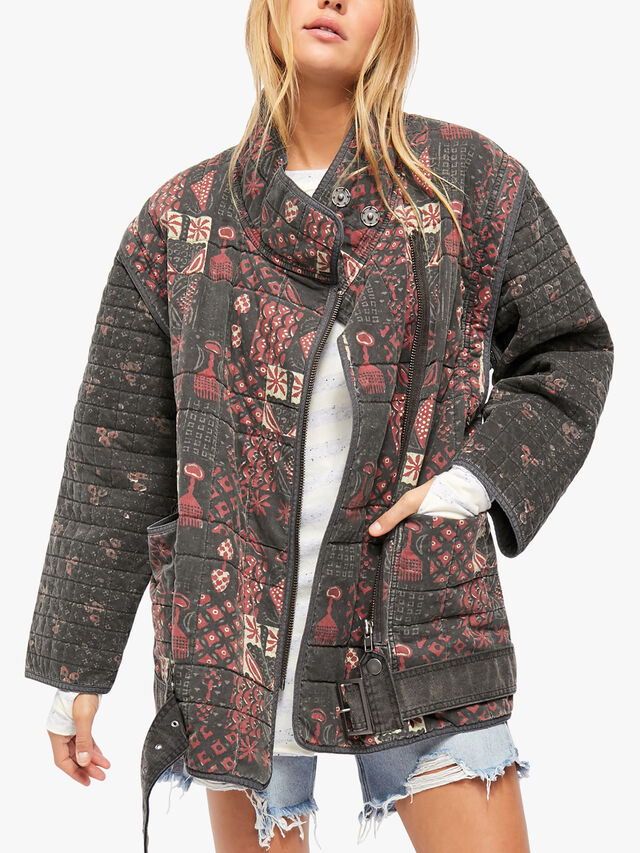 Jenny Quilted Moto Jacket