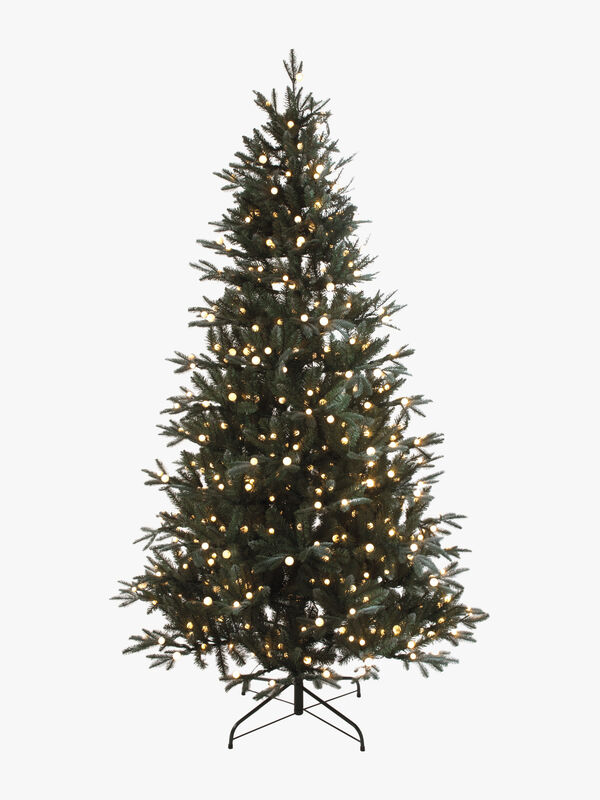 Prelit Snowball Pine Tree