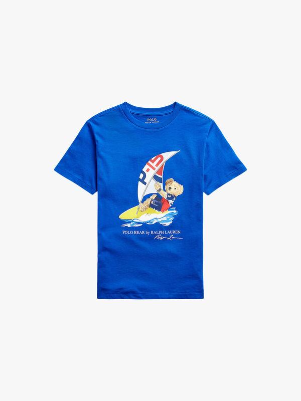 Short Sleeve Crew Neck Bear T-Shirt