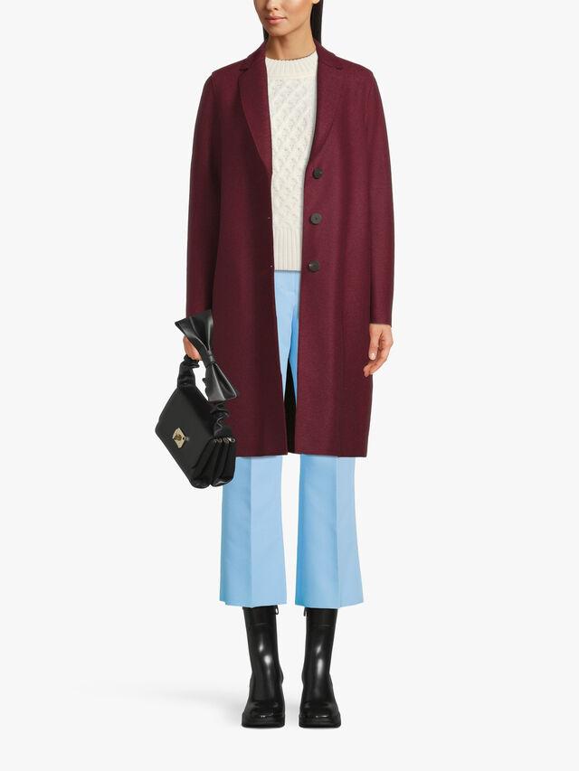 Pressed Wool Overcoat