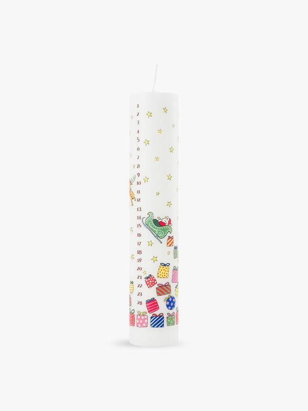 Santa's Sleigh Pillar Advent Candle