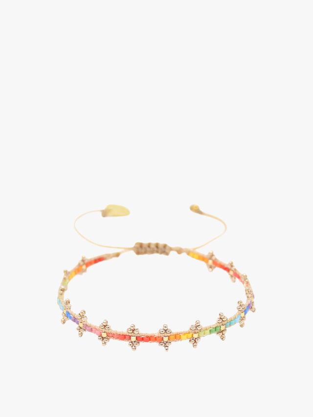 Rainbow Shanty Beaded Bracelet