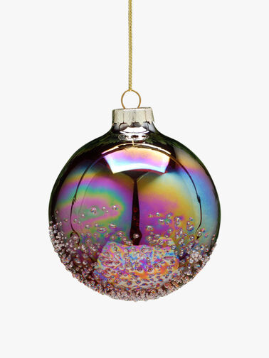 Iridescent Crusted Christmas Bauble