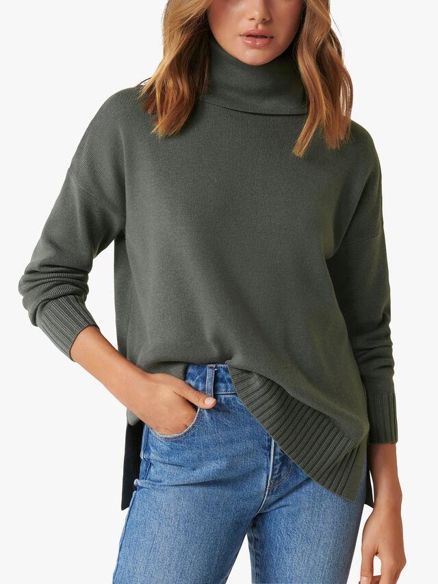 Madison Roll Neck Knit Jumper