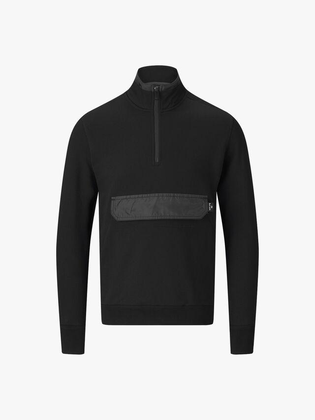 Half Zip Funnel Neck Sweatshirt