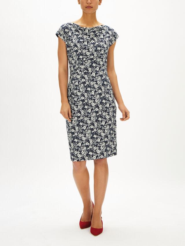 Theona Cap Sleeve Day Dress
