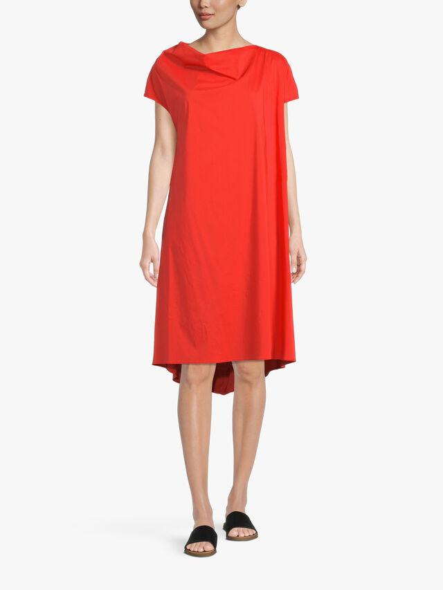 Cotton Poplin Drop Hem A Line Dress