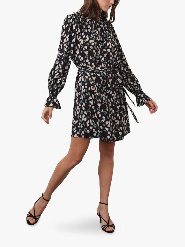 Printed Challis Dress