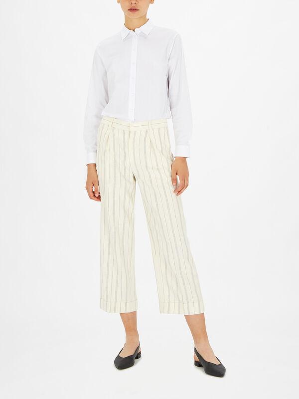 Haley Stripe Wide Leg Trouser