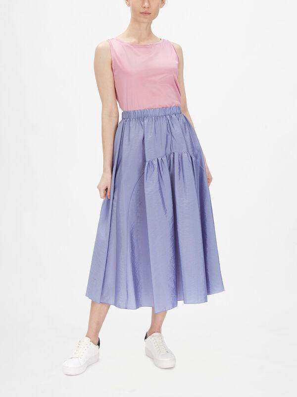 Narrare Crinkle Midi Skirt with Pockets