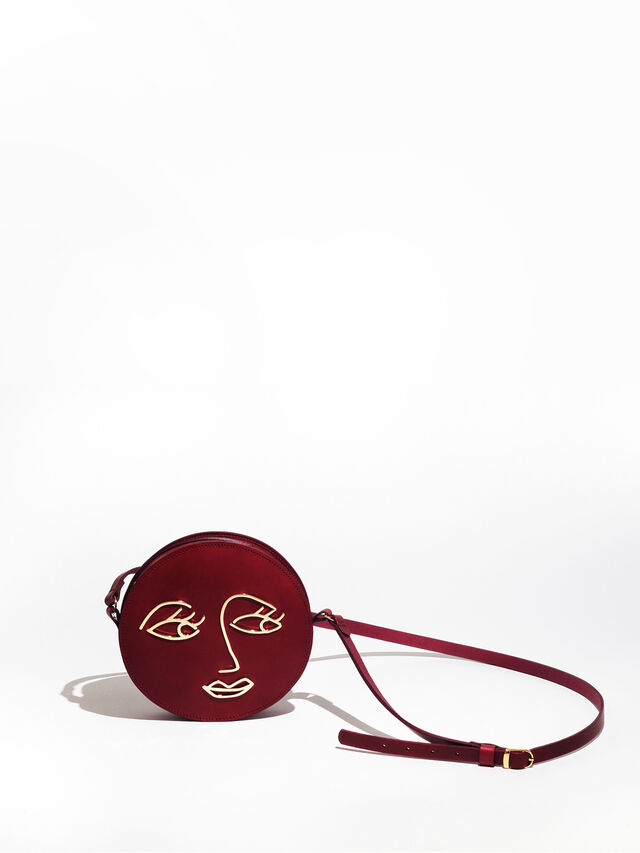Love Round Crossbody with Face