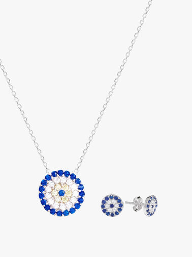 Eye Necklace and Stud Set