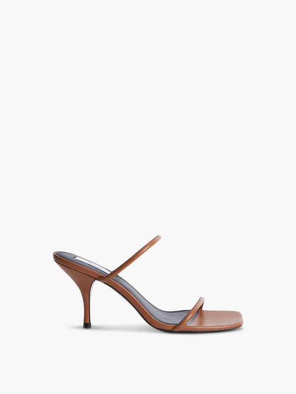 MAGDA Leather Strappy Heeled Sandals