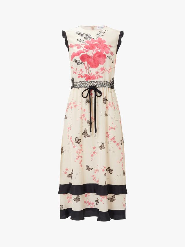 Sleeveless Long Printed Dress