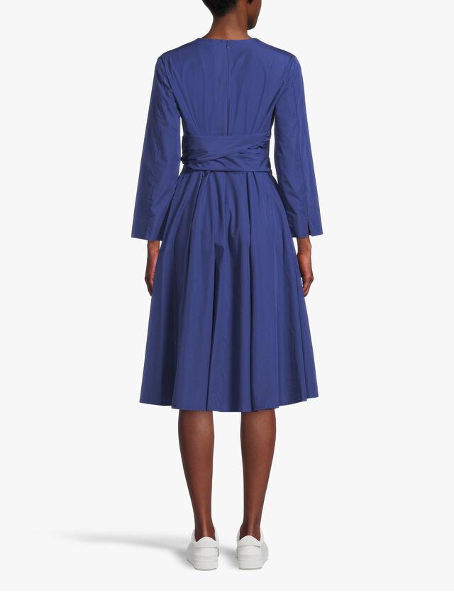 Bandolo Long Sleeve Printed Flared Midi Dress