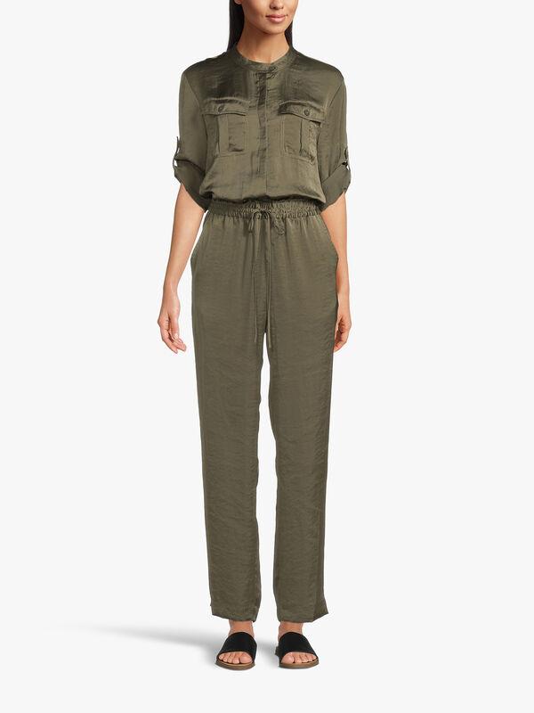 Short Sleeve Utility Jumpsuit