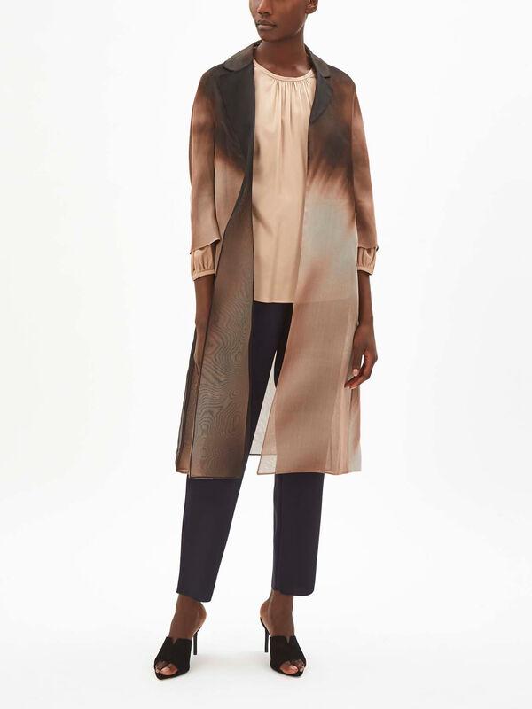 Dondolo Silk Organza Coat
