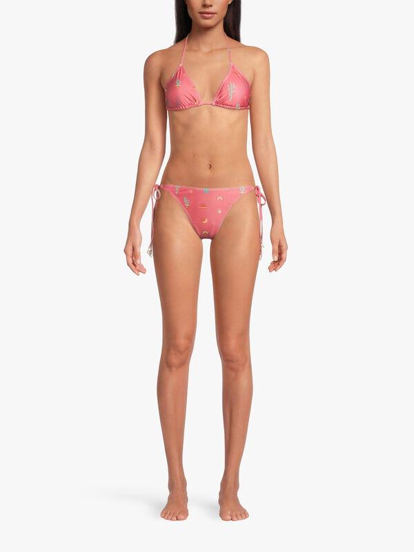 Cactus Print Bikini Top