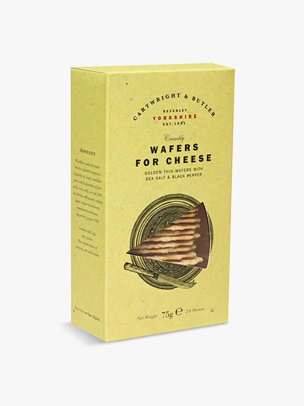 Cheese and Black Pepper Wafers 75g