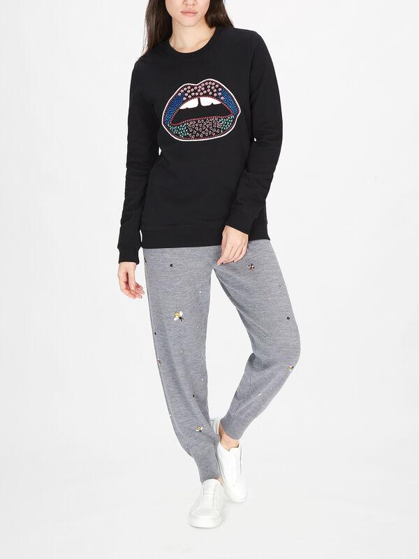 Anna Embroidered Lip Sweatshirt